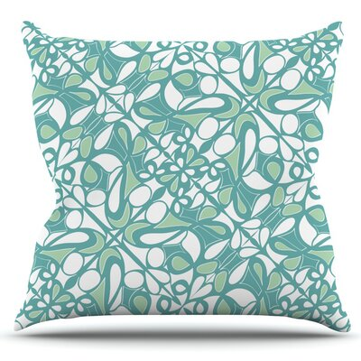 Swirling Tiles by Miranda Mol Outdoor Throw Pillow