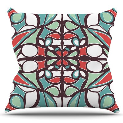Round Tiles by Miranda Mol Outdoor Throw Pillow