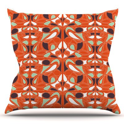 Swirl Kiss by Miranda Mol Outdoor Throw Pillow