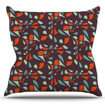 Retro Tile by Miranda Mol Outdoor Throw Pillow