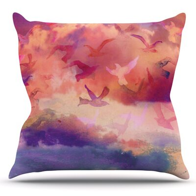 Souffle Sky by Nikki Strange Outdoor Throw Pillow