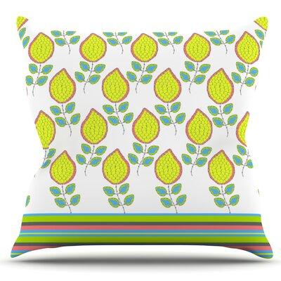 Leaves by Nandita Singh Outdoor Throw Pillow