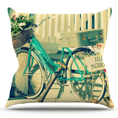 Just Married by Robin Dickinson Outdoor Throw Pillow
