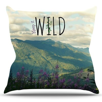Keep it Wild by Robin Dickinson Outdoor Throw Pillow
