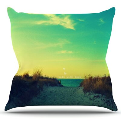 Walk With Love by Robin Dickinson Outdoor Throw Pillow