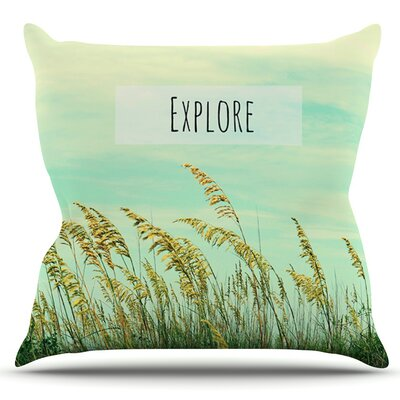 Explore by Robin Dickinson Outdoor Throw Pillow
