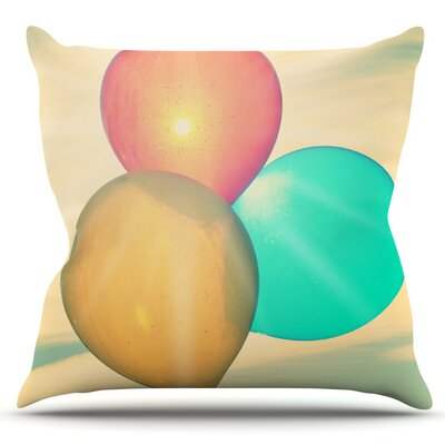 Balloons by Robin Dickinson Outdoor Throw Pillow