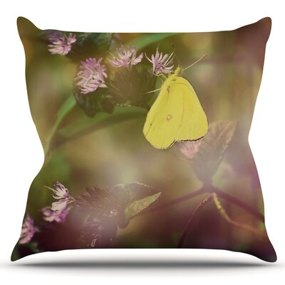 Butterfly Kisses by Robin Dickinson Outdoor Throw Pillow