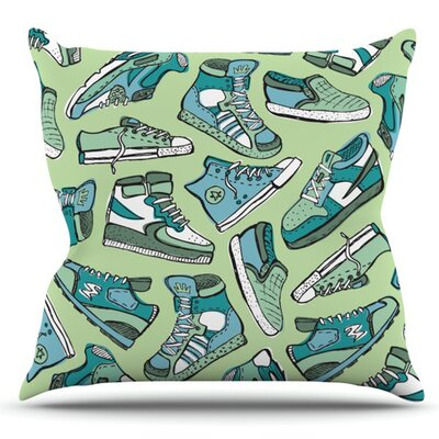 Sneaker Lover I by Brienne Jepkema Outdoor Throw Pillow Color: Light Green/Peach