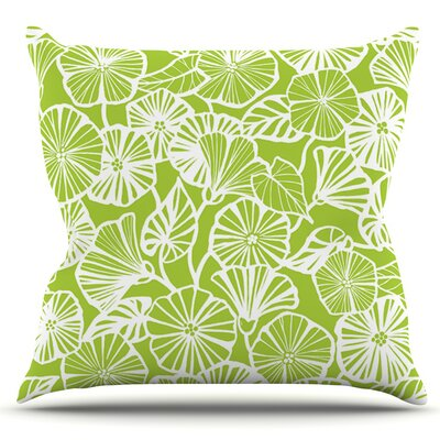 Vine Shadow by Jacqueline Milton Outdoor Throw Pillow Color: Lime