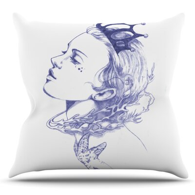Queen of the Sea by Lydia Martin Outdoor Throw Pillow Color: Purple