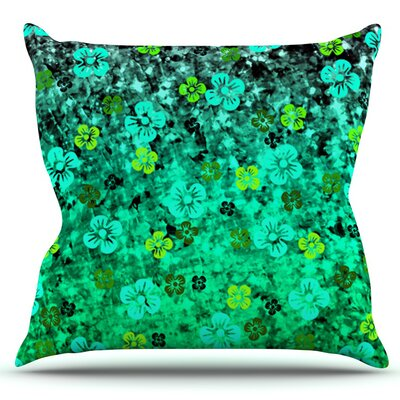 Flower Power by Ebi Emporium Outdoor Throw Pillow Color: Aqua