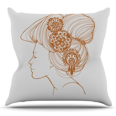 Jennie Penny Outdoor Throw Pillow Color: Black