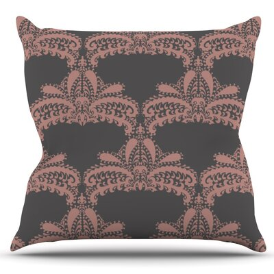 Decorative Motif by Nandita Singh Outdoor Throw Pillow Color: Gold
