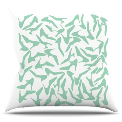 Shoe by Project M Outdoor Throw Pillow Color: Mint/White