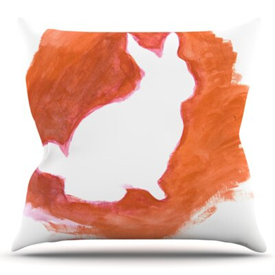 You A Bunny by Theresa Giolzetti Outdoor Throw Pillow Color: Orange