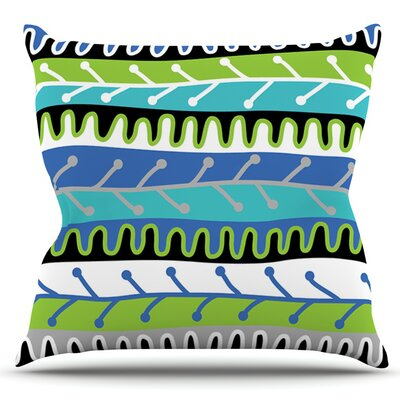 Salsa by Jacqueline Milton Outdoor Throw Pillow Color: Orange