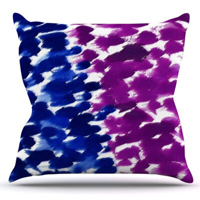 Fleeting by Emine Ortega Outdoor Throw Pillow Color: Blue