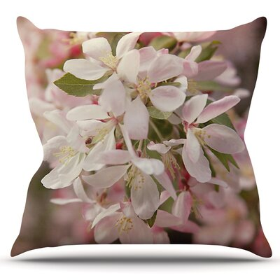 Apple Blossoms by Angie Turner Outdoor Throw Pillow