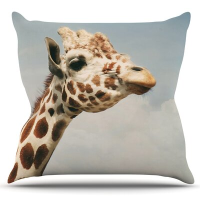 Giraffe by Angie Turner Outdoor Throw Pillow