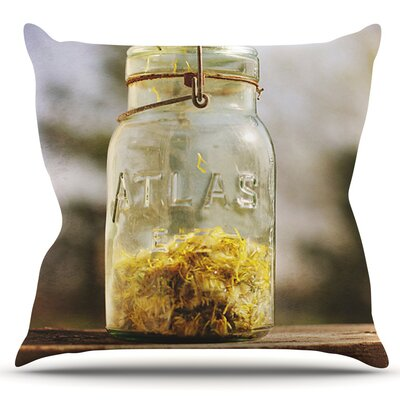 Jar of Sunshine by Angie Turner Outdoor Throw Pillow