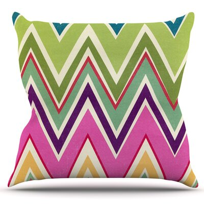Clash Of Color by Heidi Jennings Outdoor Throw Pillow