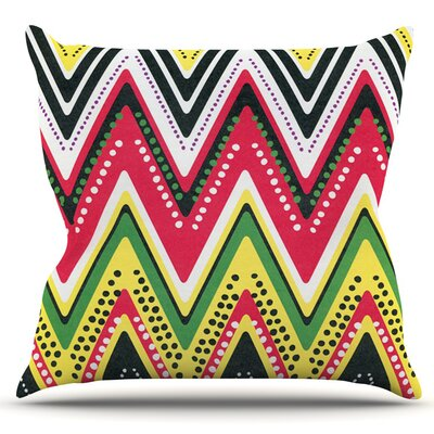 Jamaican Me Crazy by Heidi Jennings Outdoor Throw Pillow