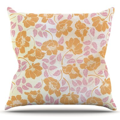 Sun Kissed Petals by Heidi Jennings Outdoor Throw Pillow