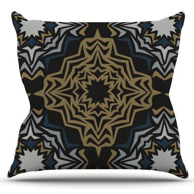 Golden Fractals by Miranda Mol Outdoor Throw Pillow
