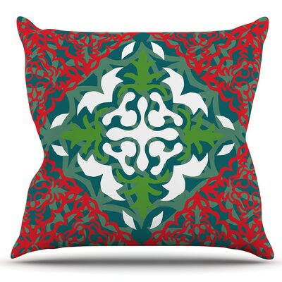 Lace Flakes by Miranda Mol Outdoor Throw Pillow