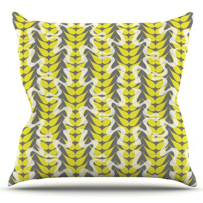 Whirling Leaves by Miranda Mol Outdoor Throw Pillow
