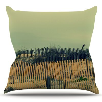 Carova Dunes by Robin Dickinson Outdoor Throw Pillow