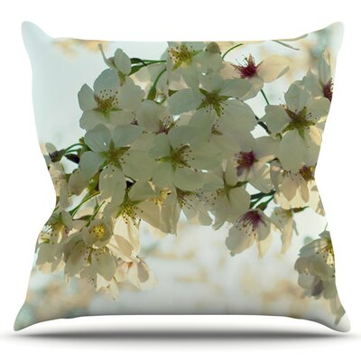 Cherry Blossoms by Robin Dickinson Outdoor Throw Pillow