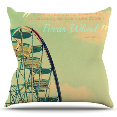 Ferris Wheel by Robin Dickinson Outdoor Throw Pillow