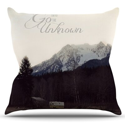 Go Into the Unknown by Robin Dickinson Outdoor Throw Pillow