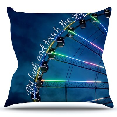 Fly High And Touch The Sky by Beth Engel Outdoor Throw Pillow