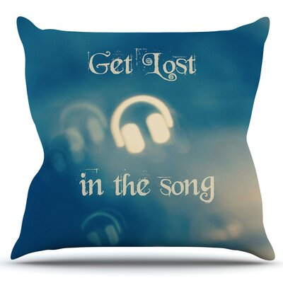 Get Lost In The Song by Beth Engel Outdoor Throw Pillow