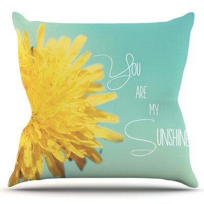 You Are My Sunshine by Beth Engel Outdoor Throw Pillow