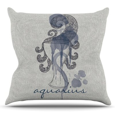 Aquarius by Belinda Gillies Outdoor Throw Pillow