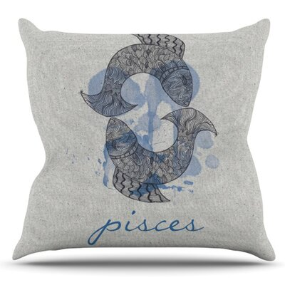 Pisces by Belinda Gillies Outdoor Throw Pillow