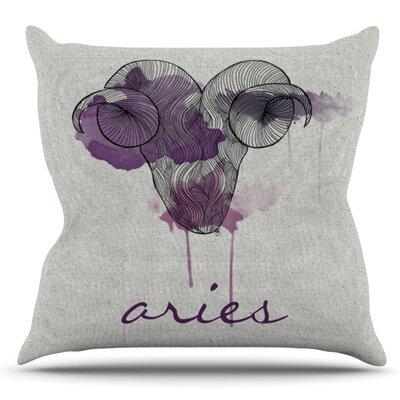 Aries by Belinda Gillies Outdoor Throw Pillow