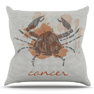 Cancer by Belinda Gillies Outdoor Throw Pillow