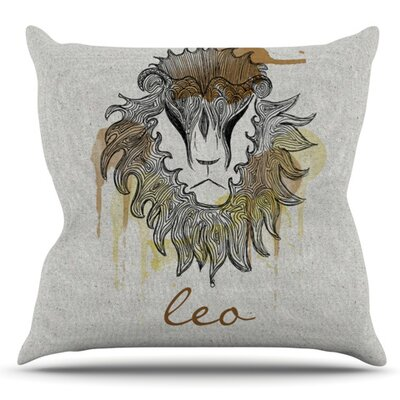 Leo by Belinda Gillies Outdoor Throw Pillow