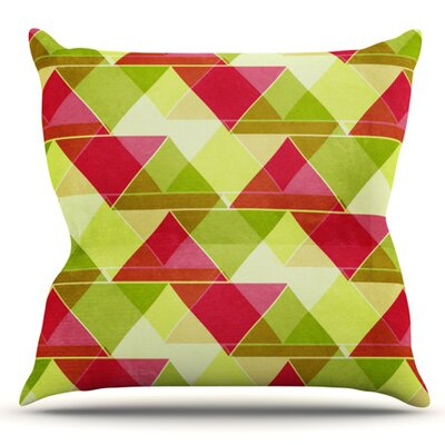 Palm Beach by Catherine McDonald Outdoor Throw Pillow