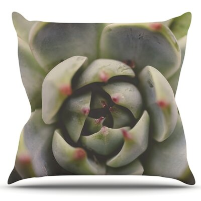 Desert Succulent by Debbra Obertanec Outdoor Throw Pillow