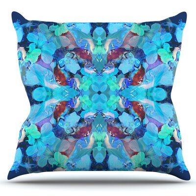 The Moon and A Fox by Danii Pollehn Outdoor Throw Pillow