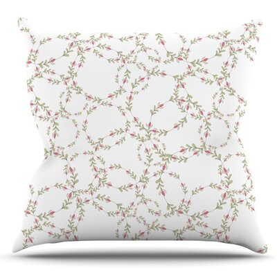 Evergreen Wreaths by Emma Frances Outdoor Throw Pillow