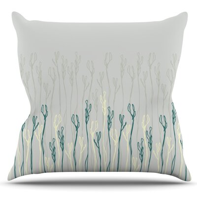 Dainty Shoots by Emma Frances Outdoor Throw Pillow