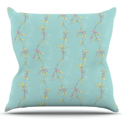 Falling Florals by Emma Frances Outdoor Throw Pillow