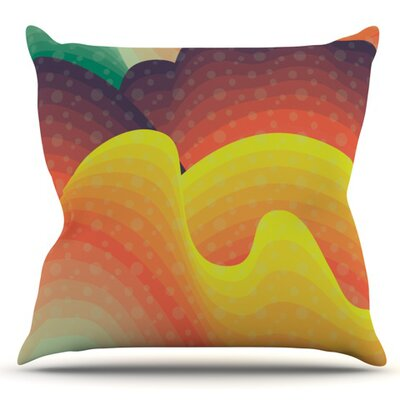 Waves Waves by Akwaflorell Outdoor Throw Pillow